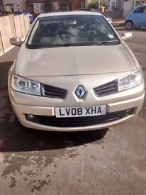 Renault Megane Cabriolet 1.6 VVT Dynamique 2 door Convertible with only 38900 miles