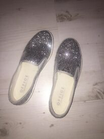 Office glitter slip on shoes size 5