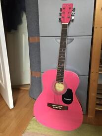 Acoustic Guitar, strap & case