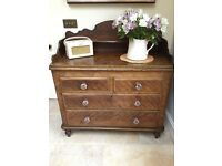 Pretty antique chest of drawers. Great shabby chic project to paint.