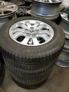 215 65 16 Michelin XIce on OEM Honda CRV alloy rims 5x114.3