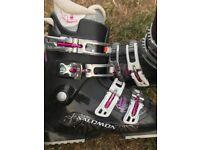 Ladies ski boots size 6 Salomon