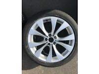 BMW X5 MSport Alloys. 2 new front tyres.