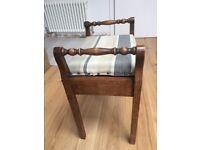 Mahogany Piano Stool With Storage