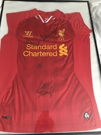 Liverpool signed shirt