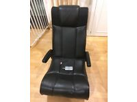 X-Rocker gaming chair with transmitter