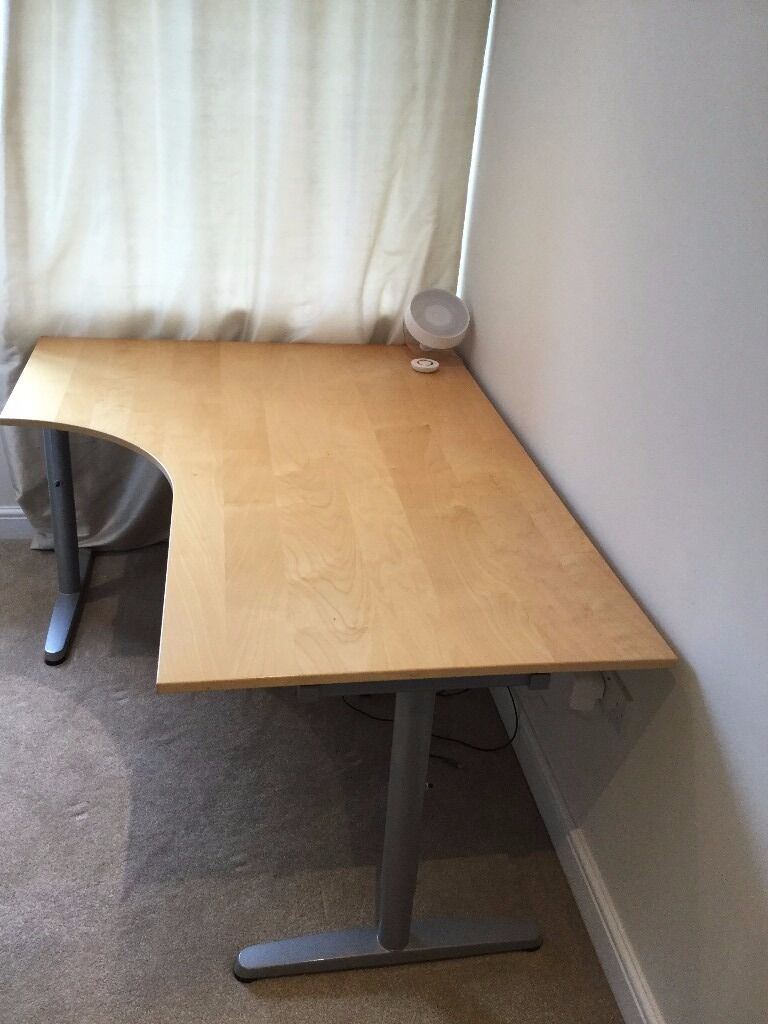 reduced birch galant ikea office corner desk for sale in york north yorkshire gumtree. Black Bedroom Furniture Sets. Home Design Ideas