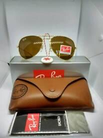 Ray-Ban aviator sunglasses brown