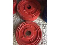 2kg x 4 Cast Iron weights