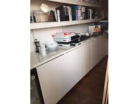KITCHENETTE KITCHEN IKEA STORAGE UNITS TABLE TOPS AND FRIDGE FOR SALE