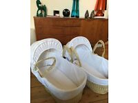 One John Lewis Moses basket plus stand for sale