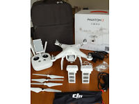 DJI Phantom 3 Advanced with extra Battery - Backpack - Car Charger