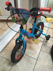 Toddler Mickey Mouse bike
