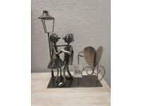 Dancing couple wine bottle holder - ideal gift for weddings or anniversaries