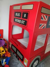 Julian bowen london bus bunk bed. Conolete with spare bottom panels too. Imaculate condition.