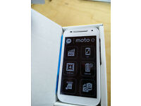 BNIB White Motorola Moto E 4G Mobile Phone Brand New Boxed, locked to O2/Tesco networks