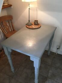 Lovely small pine kitchen table - In Annie Sloan chalk paint