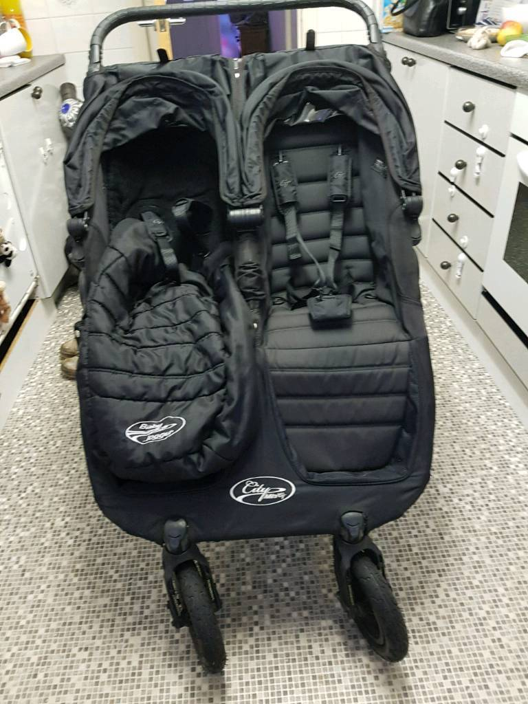 Baby Jogger City Double GT with Compact Carry Cot and Extras