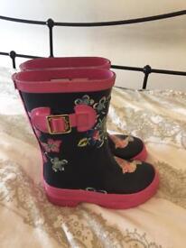 Girls joules wellington boots