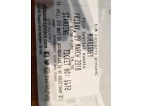 Morrisey tickets x2 Friday 9th march Alexandra palace