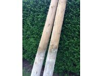 Two large gate / straining posts