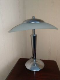 Chrome Standard Lamp & Matching Table Lamp