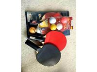 3new table tennis rackets and a few balls for only 10 pounds