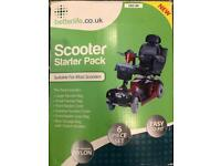 Mobility scooter waterproof covers / bags all you need accessory starter pack