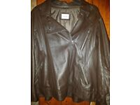 LADIES REAL LEATHER BIKER JACKET