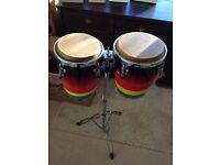 Performance congas / bongos with stand