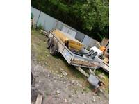 Ifor williams 12ft x 6ft fixed bed twin axle plant trailer spares or repairs