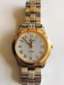 Men's Tissot PR50 two-tone quartz watch - Swiss made