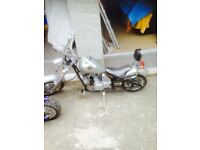 Chopper type motor bike