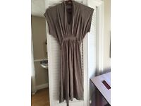Serephine maternity tunic in taupe colour size 1 (8-10)