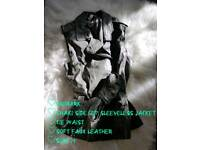 Women's Khaki Jacket & Skirt Bundle