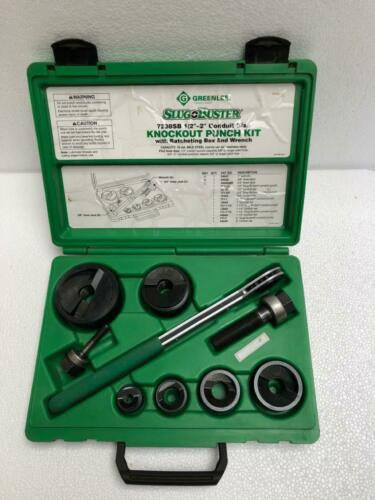 "GREENLEE 7238SB MANUAL KNOCKOUT PUNCH SET 1/2"" TO 2"" CONDUIT"