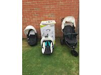 Viper Set Trio/ pushchair + Car Seat + baby cot bed