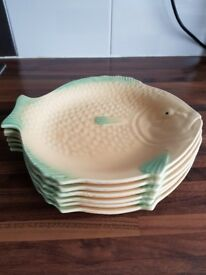 Fish plates 1930's Shorter & Son