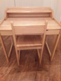 Childs desk snd chair