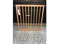 Baby Dan wooden No-Trip stair gate with fixings, good condition.