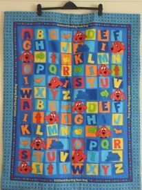 Handmade cot/play quilt