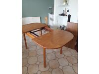 kitchen extending dining table/ three chairs,