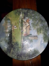 The village pond by Clive madgwick display plate collectible