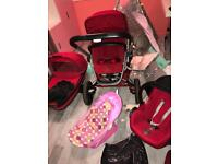 Quinny Buzz Xtra Cabriofix Travel System Bundle- RED RUMOUR (Buy New2017) 3in1!!!! Pushchair