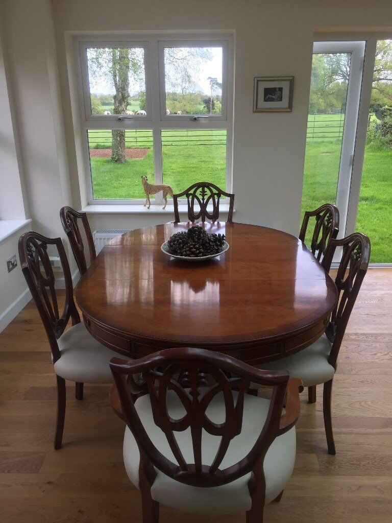 28650063ea Cherry Wood Extending Dining Table with 6 Chairs | in Norwich ...