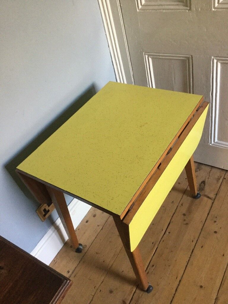 Small Vintage Yellow Formica Table