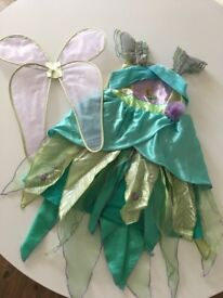 Disney Fairies Tinkerbell costume with detachable wings, age 7-8