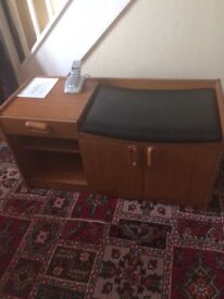 FREE dining table telephone table & cupboard need gone ASAP