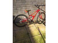 Kids Red Mountain Bike