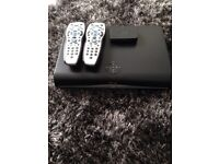 Sky HD box with 3x remotes